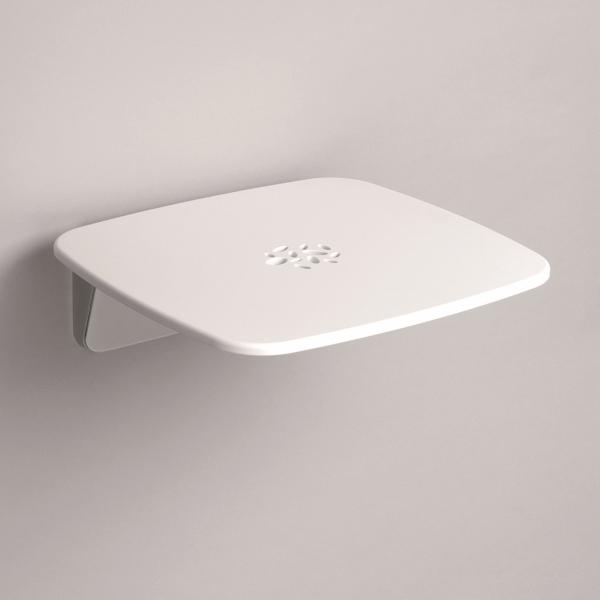 Duschklappsitz zur Wandmontage Grau oder Weiß