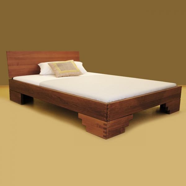 Bett Massivholz Ramsis für große und schwere Personen