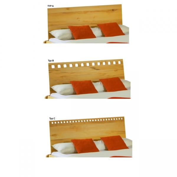 Rückenlehne für Bett Massivholz