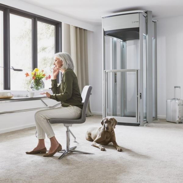 mit dem homelift xl hat das m hselige treppensteigen ein ende online sanit tshaus. Black Bedroom Furniture Sets. Home Design Ideas