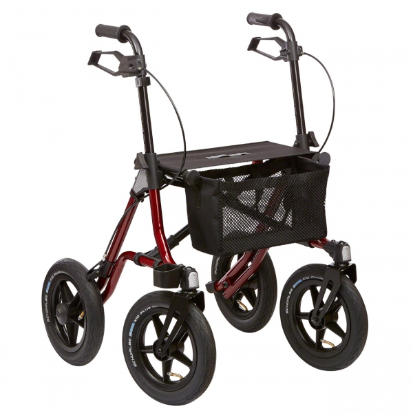 Outdoor Gelände Rollator mit Luftbereifung nur 9,1 kg