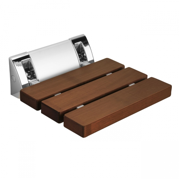 Duschklappsitz zur Wandmontage Holzoptik