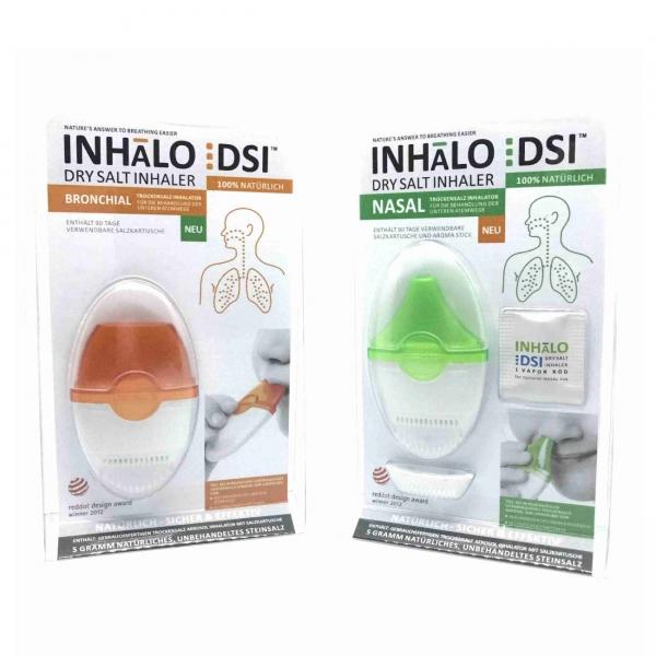 DSI INHALO - Nasal und Bronchial Inhalator mit Trockensalz (1 Paar)