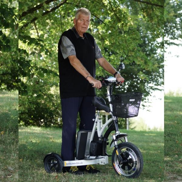 EWO life Elektro-Rollator und Elektromobil in einem