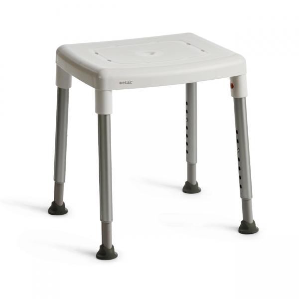 XXL Duschhocker bis 200 kg mit grosser Sitzfläche, höhenverstellbar