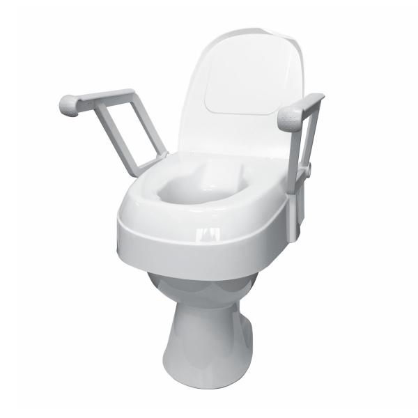 Toilettensitzerhöhung verstellbar, mit Armlehnen
