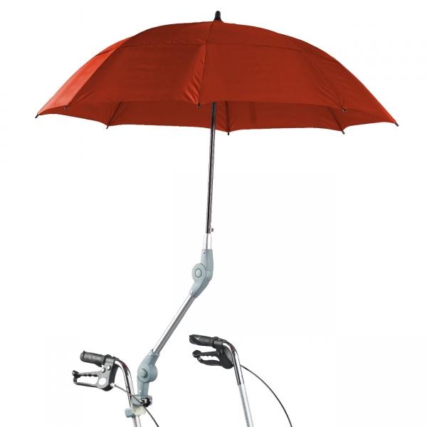 Schirm mit Halterung für Rollatoren und Rollstühle