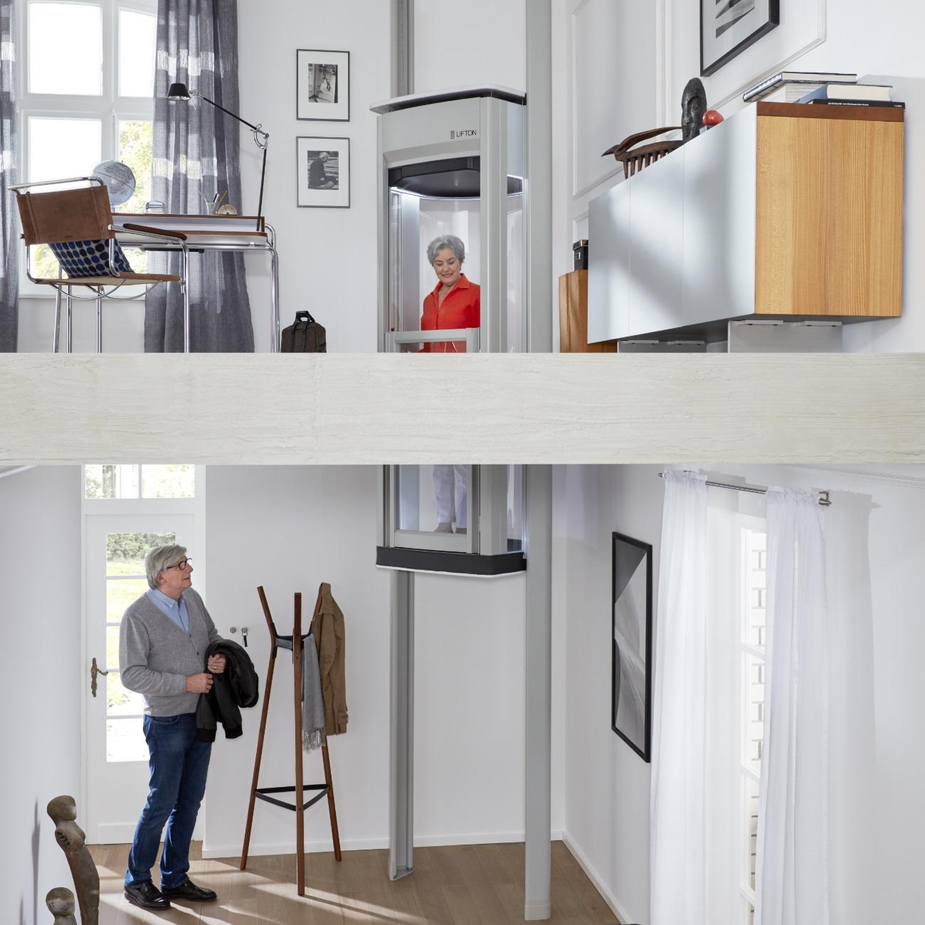 mit dem homelift hat das m hselige treppensteigen ein ende. Black Bedroom Furniture Sets. Home Design Ideas