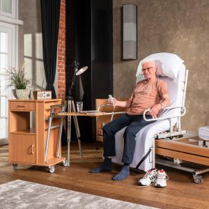 Aufstehbett Komfort Pflegebett Sitzbett