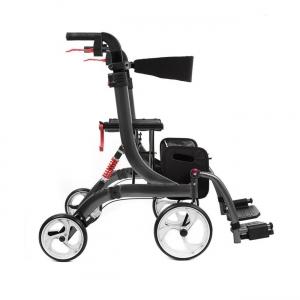 Rollator Spring Vario faltbarer Rollator und Rollstuhl in einem