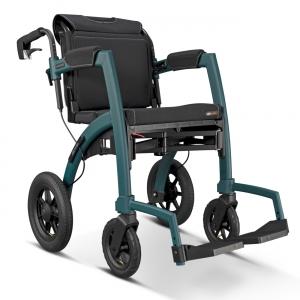 Rollz Motion Performance mit Luftbereifung, der faltbare Outdoor Rollator / Rollstuhl in einem