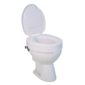 Toilettensitzerhöhung 10cm mit Deckel bis 225 kg