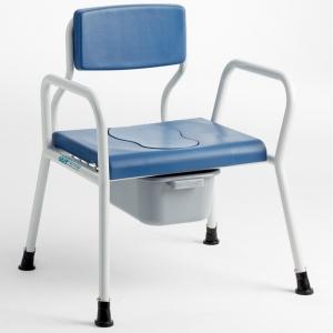 Duschtoilettenstuhl XXL 325 mit Arm- und Rückenlehne